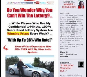 The World's #1 Lottery System For Lotto.