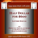 999 Book of Numbers … SBIP999 – Half Dollar 4 $600 Lottery System