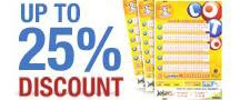 Lottery Discounts at theLotter this week – Good opportunity for players! 10-25% OFF prices!!!!