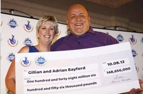 £148m EuroMillions lottery winners Adrian and Gillian Bayford