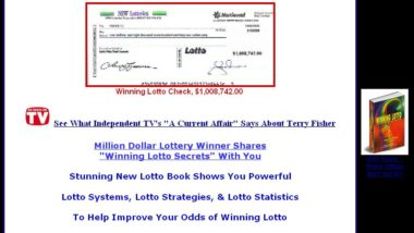 Lotto Book: Winning The Lottery, lottery book by Million-Dollar Lotto Winner