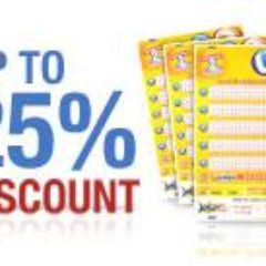 Lottery Discounts at theLotter this week - Good opportunity for players! 10-25% OFF prices!!!!